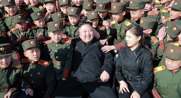 """This March 2, 2017 picture released by North Korean news agency, KCNA (Korean Central News Agency) on March 3, 2017 shows North Korean leader Kim Jong-Un (C) and his wife Ri Sol-Ju (front 2nd R) visiting the Mangyongdae Revolutionary School in Pyongyang to plant trees with its students on the Tree-planting Day. REPUBLIC OF KOREA OUT ---EDITORS NOTE--- RESTRICTED TO EDITORIAL USE - MANDATORY CREDIT """"AFP PHOTO / KCNA VIA KNS"""" - NO MARKETING NO ADVERTISING CAMPAIGNS - DISTRIBUTED AS A SERVICE TO CLIENTS / AFP PHOTO / KCNA VIA KNS / STR / South Korea OUT / REPUBLIC OF KOREA OUT   ---EDITORS NOTE--- RESTRICTED TO EDITORIAL USE - MANDATORY CREDIT """"AFP PHOTO/KCNA VIA KNS"""" - NO MARKETING NO ADVERTISING CAMPAIGNS - DISTRIBUTED AS A SERVICE TO CLIENTS THIS PICTURE WAS MADE AVAILABLE BY A THIRD PARTY. AFP CAN NOT INDEPENDENTLY VERIFY THE AUTHENTICITY, LOCATION, DATE AND CONTENT OF THIS IMAGE. THIS PHOTO IS DISTRIBUTED EXACTLY AS RECEIVED BY AFP.    / REPUBLIC OF KOREA OUT ---EDITORS NOTE--- RESTRICTED TO EDITORIAL USE - MANDATORY CREDIT """"AFP PHOTO / KCNA VIA KNS"""" - NO MARKETING NO ADVERTISING CAMPAIGNS - DISTRIBUTED AS A SERVICE TO CLIENTS"""