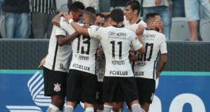 SÃO PAULO/SP 09/04/2017 ESPORTES / CAMPEONATO PAULISTA / PAULISTÃO / QUARTAS DE FINAL / CORINTHIANS X BOTAFOGO - SP - Jogo entre Corinthians x Botafogo - SP, válido pelas quartas de final do campeonato Paulista, realizado na Arena Corinthians. NA FOTO COMEMORAÇÃO DO GOL DE RODRIGUINHO FOTO ALEX SILVA/ESTADÃO