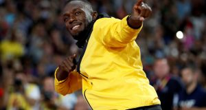 Athletics - World Athletics Championships – Usain Bolt's farewell ceremony – London Stadium, London, Britain – August 13, 2017 – Usain Bolt of Jamaica gestures. REUTERS/Phil Noble     TPX IMAGES OF THE DAY