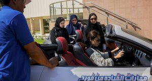 Saudi students in a car safety course at Effat University in Jidda, Saudi Arabia, March 5, 2018. Three and a half months remain before the date when the rulers of this ultraconservative kingdom have promised to lift the longstanding ban on women driving, and many here are already planning for what is sure to be a major change in Saudi society. (Tasneem Alsultan/The New York Times)