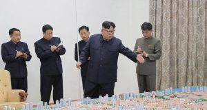North Korean leader Kim Jong Un guides the construction of Sinuiju City, in this undated photo released on November 16, 2018 by North Korea's Korean Central News Agency (KCNA).  KCNA via REUTERS ATTENTION EDITORS - THIS IMAGE WAS PROVIDED BY A THIRD PARTY. REUTERS IS UNABLE TO INDEPENDENTLY VERIFY THIS IMAGE. NO THIRD PARTY SALES. SOUTH KOREA OUT.