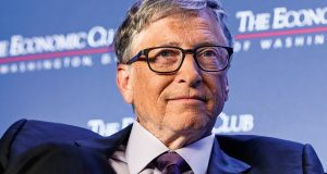 WASHINGTON, DC - JUNE 24: Microsoft principle founder Bill Gates participates in a discussion during a luncheon of the Economic Club of Washington June 24, 2019 in Washington, DC. Gates discussed various topics including climate change.   Alex Wong/Getty Images/AFP