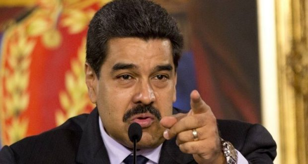 FILE - In this April 12, 2016 file photo, Venezuela's President Nicolas Maduro speaks during the installation of a truth commission, at Miraflores presidential palace in Caracas, Venezuela. Opponents of President Nicolas Maduro promise to flood the streets of Caracas on Thursday, Sept. 1, in a major test of their strength and the government's ability to tolerate growing dissent. (AP Photo/Ariana Cubillos, File)